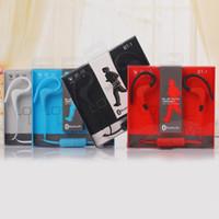спортивный беспроводной наушник для наушников mp3 оптовых-BT-1 тур наушники Bluetooth Спорт Earhook наушники стерео Over-Ear беспроводной шейный ремешок гарнитура наушники с микрофоном для универсальных мобильных телефонов MP3