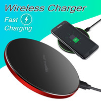 Wholesale qi wireless charging adapter for sale – best 10W Metal Fast Charging Wireless Charger Adapter for iPhone X Qi Wireless Charging Pad Ultra Slim Charging Receiver for Galaxy S9 S8 Plus