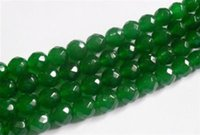 """Wholesale Loose Faceted Gemstones - 4mm Natural Emerald Faceted Loose Beads Gemstone 15""""AAA"""