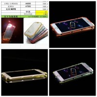 Wholesale Iphone 4s Lighting Case - For iPhone 7 I7 6 6S 4.7 Plus 5.5 5 5S SE 4 4S TPU+Hard PC Chrome Metallic Bumper Frame Flash Up Light Lncoming Call LED Case Plating Cover