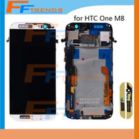 Wholesale One Touch Retail - For HTC One M8 LCD Display + Touch Digitizer Screen + Frame Original Assembly full LCD Display Screen Touch Digitizer Retail