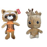 boneca de pelúcia originais venda por atacado-2016 Marvel Superhero Guardiões da Galáxia 20 cm (8 polegadas) Groot bonecos de Pelúcia com tag original brinquedo para o presente de Natal E1467