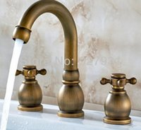 Ottone antico all'ingrosso europei Rubinetti Bbasin. Modern Bathroom Vessel Sink lavabo lavabo Tap 1001 # 01
