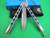 Wholesale Wholesale Hunting Gifts - butterfly BM42SBL Free-swinging Hunting Folding Pocket flail Survival Knife Xmas gift for man 6pcs freeshipping