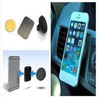 teléfonos celulares s4 al por mayor-Soporte magnético del soporte del teléfono celular de la salida de aire del coche del tablero de instrumentos para Iphone 5s 6 6plus Samsung S3 S4 S5 S6 para todos los teléfonos US03