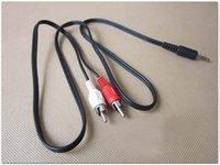 hochwertige rca kabel großhandel-Freies Verschiffen Qualitäts-AUX-Klinke 3.5mm bis 2 RCA-Audiokabel-Adaptermann zum männlichen Audiokabel für Mp3 Mp4 Player-Handy 100pcs
