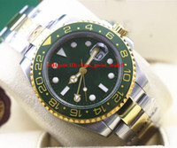 Wholesale Sub Perpetual - Luxury Brand GMT II 116718 YG Green Automatic Oyster Perpetual DAY DATE men watch Automatic Men's watches Master 2 Wristwatches sub watch
