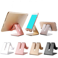 mobile phone charging stands Australia - Universal Mobile Phone Holder Stand Aluminium Alloy Desk Holder For Phone Charging Stand Cradle Mount For Phone Pad Support
