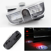 Wholesale vw golf mk6 led resale online - Car LED Door Light For Volkswagen VW Golf Jetta MK6 MK7 CC Tiguan Passat B6 B7 Scirocco Projector Warning Welcome decoration light