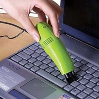 Wholesale Computers Price Sells - Hot selling High quality Laptop mini brush keyboard USB dust collector vaccum cleaner computer clean tools wholesale price