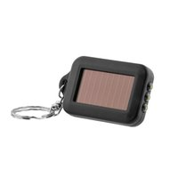 Wholesale Solar Power Torch Keychain - Free Shipping 2016 New Mini Portable Solar Power 3LED Light Keychain Torch Flash Flashlight Key Ring Gift Rechargeable Useful