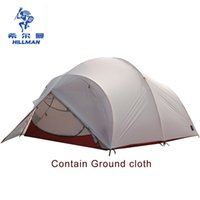 Wholesale mountaineering poles - Wholesale- Hillman 2 layer aluminum pole ultra light silicon UL waterproof cyling hiking mountaineering fishing beach outdoor camping tent