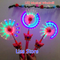 Wholesale Led Electric Windmills - Free EMS 50pcs 37cm Led Electric Musical Windmill LED Flash Classical Windmill Toy Christmas Gift