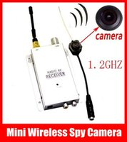 Wholesale Wireless Micro Spy Camera System - NEW Mini Wireless Spy Nanny Micro Camera Cam Hidden Pinhole System + Receiver Free Shipping