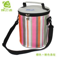Wholesale Lunch Bag Ice Pack - Wholesale-2015 insulation package drum cooler bag ice pack lunch bags lunch bag