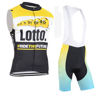 Wholesale Team Lotto Bike Short - 2017 Pro team lotto cycling jerseys summer Bicycle maillot breathable MTB Short sleeve quick dry bike clothing Ropa Ciclismo D0819