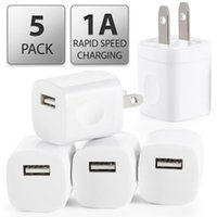 Wholesale mini wall home travel charger adapter online – 5V A US USB AC Wall Charger Home Travel Charger Adapter Mini USB charger For Samsung Iphone Smartphones mp3 pc