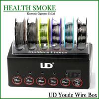 fio original do ud do youde venda por atacado-Atacado-2016 Original Youde UD Wire Box com 6 tipos de fios SS316L / Ni200 / Nichrome Wires