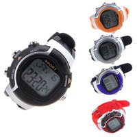 Wholesale Heart Rate Woman - Men Women Dress Watches 5 Colors Irregular Monitor Pulse Wristwatches Heart Rate Calorie Counter Exercise Gym Sport Watch
