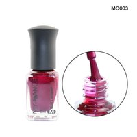 Wholesale long red nails - Shiny Long Lasting 6ML Red Nail Polish Metal Mirror Lacquer Gloss Nail Art Polish Colorful Polishes 1 Bottle #MO003