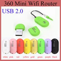 Wholesale Router Sales - 360 Mini Wifi Router Portable Chinese Brand USB 2.0 Soho Built-in Antenna Notebook Laptop Mobile Phone Tablet PC Hot Sale OTH115
