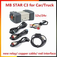 ingrosso cavo diagnostico stella c3-2017 A ++ Qualità MB Star C3 Set completo con 5 cavi Strumento di diagnostica automatica MB C3 senza HDD Star C3 Engine Analyzer per auto camion