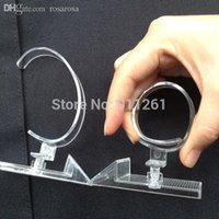 Wholesale Transparent Watch Stands - Wholesale-20 pcs PS Plastic Super elastic Wrist Watch Display Rack Holder Sale Show Tool Stand Transparent Conter Display Store Display