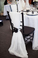 Wholesale Cheap Chair Covers For Weddings - 2016 Cheap Newest Chair Sash for Weddings Free Shipping Personalized Chair Covers Chair Sashes Wedding Accessories CHEAP in Stock