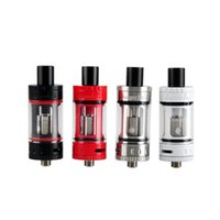 Wholesale delrin drip tips for sale - Group buy Toptank Mini Atomizer clone ml Top Refilling Sub Ohm Tank with Delrin Drip Tip BLack SS Red White