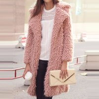 MQUEENFOX New Winter Women Trench Coat in lana a nove punti Cappotto manica Risvolto lungo Shaggy Cardigan Jacket Donna Cappotti CD445