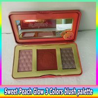 Wholesale Female Smell - IN STOCK!!Hot Brand Sweet Peach Glow Palette Smell Like Peaches Infused Highlighting Palette Long-lasting Natural Face Blush High Quality