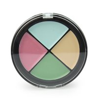 Gros-MK / CR004-05, Pro 4 en 1 Femmes Maquillage Cosmetic Concealer Portable peau Palette Shading Camouflage blanchissant surligneur 4 Styles