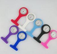 Wholesale nurses clocks resale online - Silicon nurse fob Pocket watch Candy nurse Doctor watches Cute Jelly Medical Brooch Fob Nurse Clock timer Christmas gift