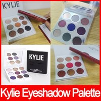 Wholesale Free Eye Shadows - in stock!! Kylie Cosmetics Jenner Kyshadow eye shadow Kit Eyeshadow BRONZE and BURGUNDY Palette Preorder Cosmetic 9 Colors Free Shipping