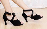 Wholesale Tango Dancing Shoes Women - Wholesale-Ballroom Latin Salsa Tango Dance Shoes wear Heel