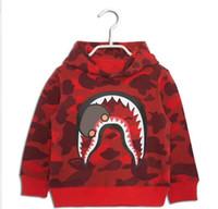 Wholesale Children Fleece Hoodies - Latest designer Kids Boy girl hoodies Boys coat fleece jackets and coats shark Children kids boys sweatshirt