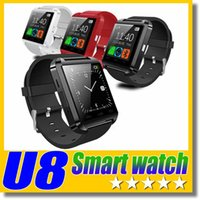 U8 Smart Watch Bluetooth Armbanduhren Höhenmesser Smartwatch für Apple iPhone 6 5S Samsung S4 S5 Hinweis Android HTC Telefone Smartphones Free DHL