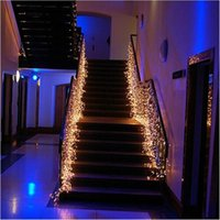 Luces de cortina LED String10m x 0.5m 320 leds Fiesta de boda navideña Luz de hadas de color Flash EU / US / UK / AU