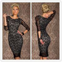 Wholesale Dresses Sirens - Sexy Club Dresses For Womens Siren Paisley Lace Midi Bodycon Dress Plus Size Clubwear One Piece CB9494
