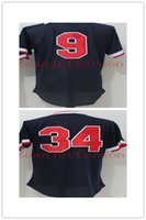 Wholesale High Ted - men's Jerseys Polyester Breathable Quick Dry 2017 hot sale 9 Ted Williams 34 David Ortiz Stitched High Quality Stitched Jerseys