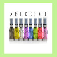 Wholesale Wholesale Clearomizers Wicks - 10PCS Ego CE4 Atomizers ce4 clearomizers e cigarette atomizer long wicks 1.6ml 2.4ohm for eGO T eGo kits 7colors electronic cigarette