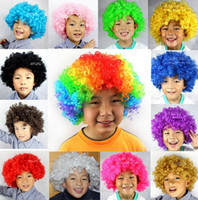 Wholesale Carnival Clown - children clown wigs fun wigs Party Wigs Masquerade Halloween Christmas carnival party costume explosion head clown hair wig free shipping