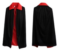Wholesale Kids Vampire Capes - Children Wizard Cloak,Double-deck Halloween Children Party Costume Free shipping Kids Wizard Costume,Black And Red cape