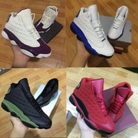 Wholesale High Quality Cat Leather - With box high Quality Wholesale 13 GS Bordeaux basketball Shoes mens shoes Olive Black Army Green Italy Blue black cat Sneakers