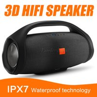 Wholesale Portable 3d Player - Nice Sound Boombox Bluetooth high quality Wireless Speaker Stere 3D HIFI Subwoofer Handsfree Outdoor Portable Stereo Subwoofers with package