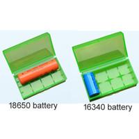 akü kutuları kutuları toptan satış-18650 Pil kutusu pil saklama kutusu plastik pil saklama kabı paketi 2 * 18650,4 * 18350 veya 4 * 16340 ecig için mekanik mod pil