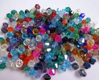 Wholesale 6mm Faceted - Hot ! 1000pcs 9 color Faceted Crystal Bicone Beads 6mm Loose beads DIY Jewelry