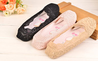 Wholesale Elastic Strap Gladiator - 2016 New Sexy Lace Wedding Shoes Bridal Socks Floral Cheap Free Shipping Prom Shoes Socks Girls Dance Shoes Christmas Party Free Size SS002