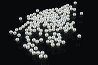 Wholesale White Round Plastic Beads - 1.5mm-5mm DIY small cream and white round AAA+ High gloss ABS Acrylic imitate pearl undrilled no hole loose beads 10000pcs lot A-R001