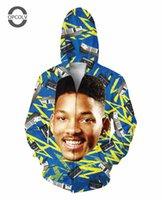 Wholesale Mens Xl Hoody - w151231 OPCOLV Fashion 3D zip-up hoodies print The Fresh Prince of Bel-Air Will Smith Hoody sweatshirts mens hoodie casual outerwear